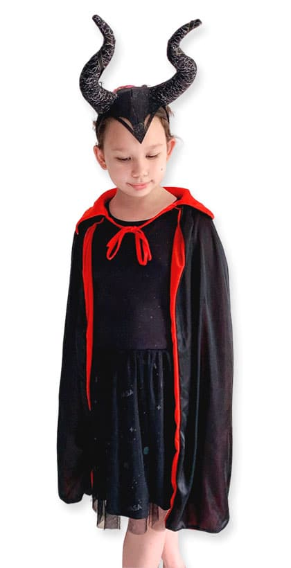 Maleficent Cape with Headgear