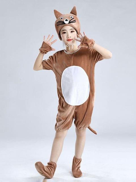 Brown Cat jumpsuit costumes