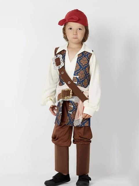 New Jack Sparrow set, pirate costumes for children
