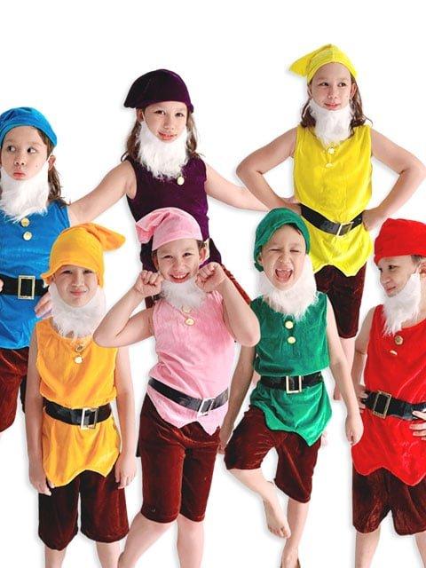 The Seven Dwarfs', famous disney characters costumes