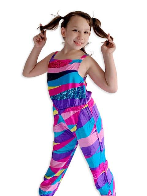 Jojo Siwa Pink Jumpsuit Girls Costume.