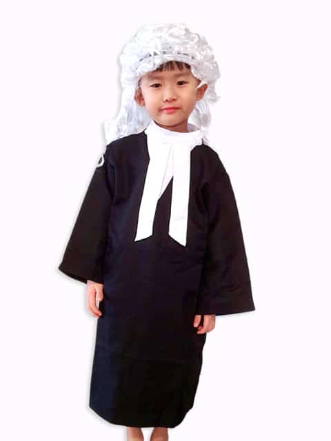 Judge/Lawyer long black robe call often gown