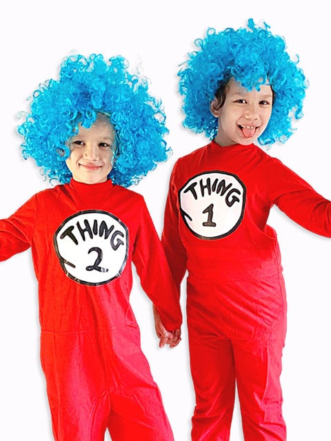 Dr. Seuss Thing 1 & Thing 2, famous book characters costumes