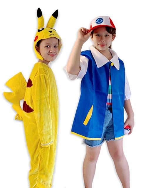 Pikachu and Ash, Pokemon children Costume