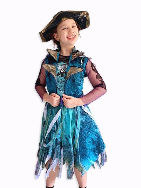 Blue pirate theme dress