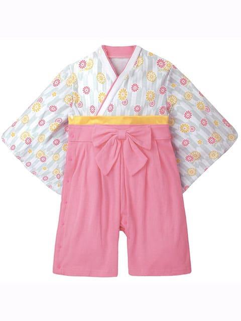 Pink Flower Kimono