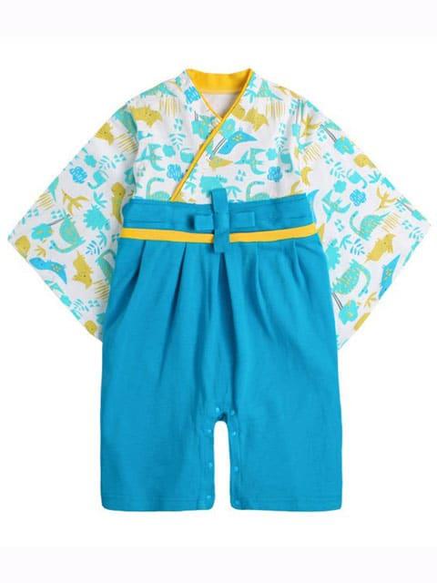Blue Dinosaur Kimono kids