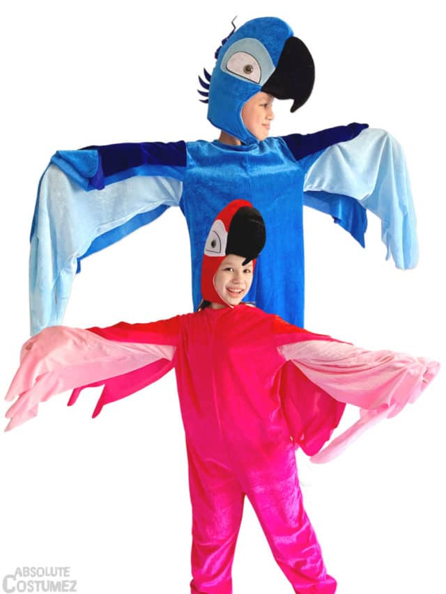 Parrot costume for children 3-7 year old
