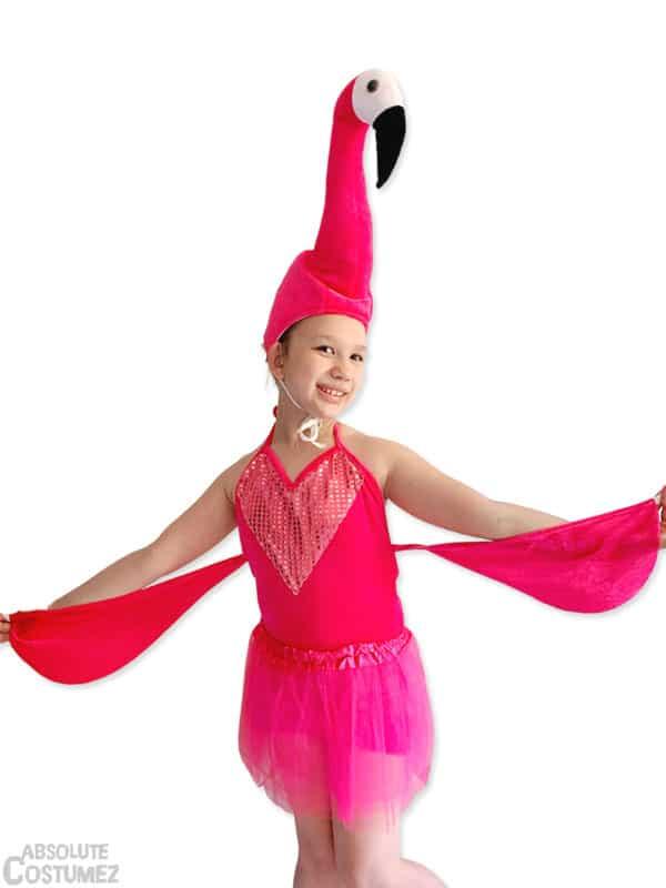 Flamingo costume for girl 5-7 year