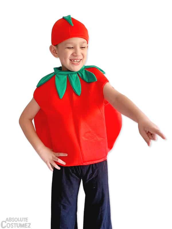 Tomato Man costume for children 4 to 7 years old