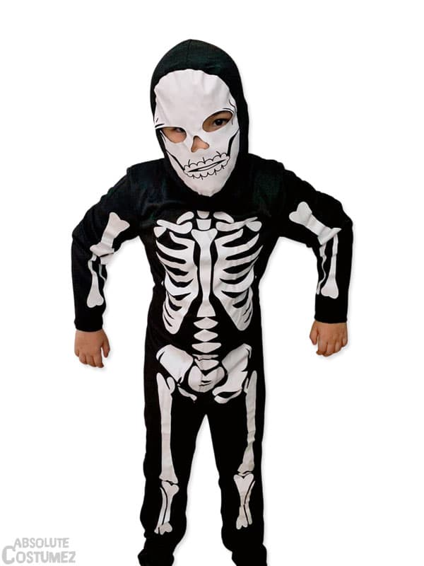 Skeleton mono is the bare bone costume for children 3 to 8 years old