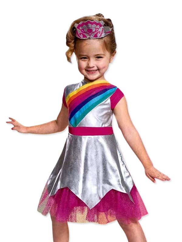 Rainbow ranger is the burst of colour costume for girl 3 to 6 years old