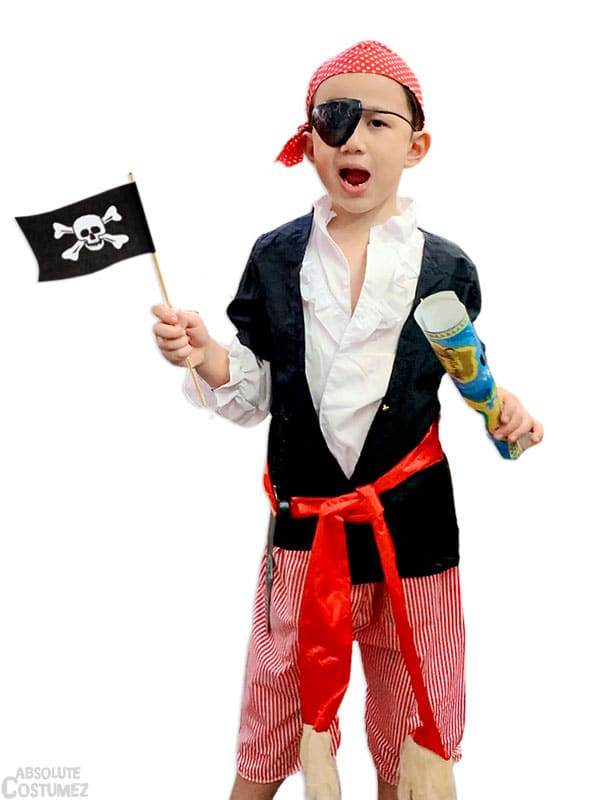 Buccaneer Pirate is an vilain sailor costume for children.