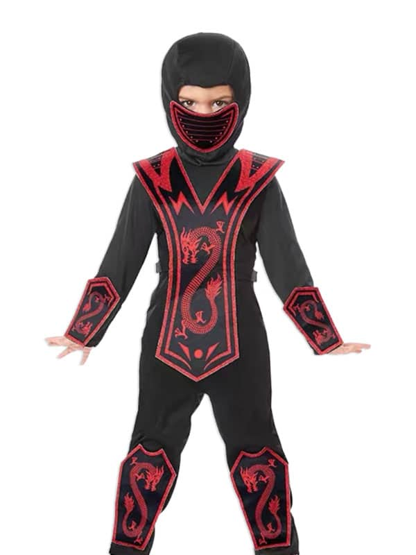 Toddler ninja costume transform kids in stealth martial art character.