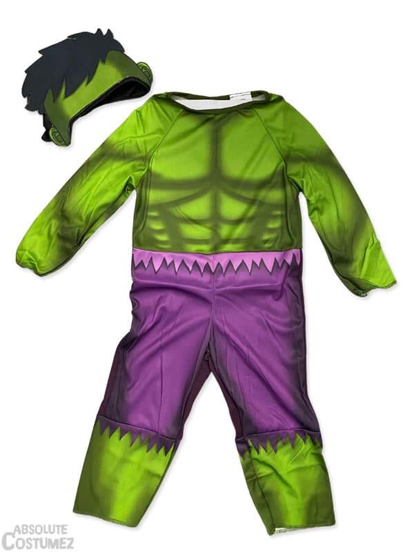 Baby Hulk costume bring boys in the super hero universe.