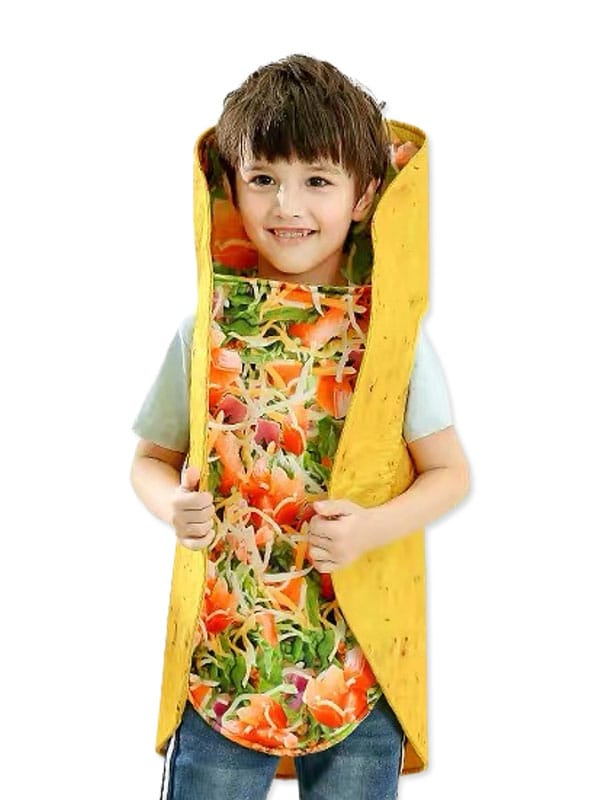 Toddler Taco costume transform kids in cute yummy Mexican food character.